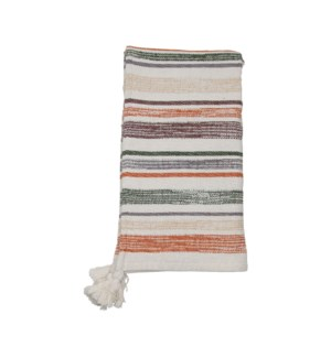 HAND WOVEN MULTI HAYES THROW NEUTRAL