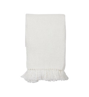 HAND WOVEN MAYA THROW WHITE