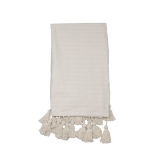 HAND WOVEN KIRA THROW WHITE