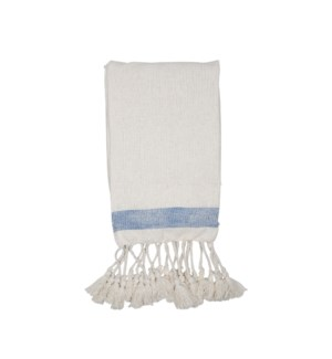 HAND WOVEN WEST THROW BLUE