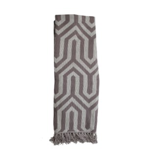HAND WOVEN HALLIE THROW GRAY