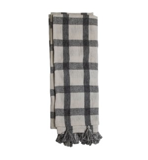 HAND WOVEN JACKIE THROW BLACK