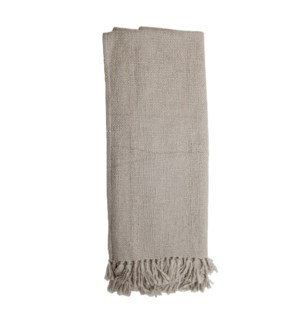 HAND WOVEN MAYA THROW GRAY