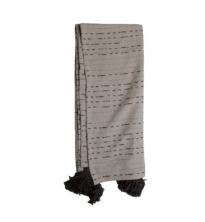 HAND WOVEN RAVI THROW GRAY