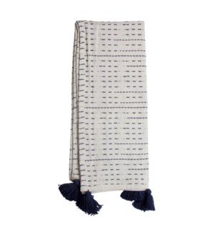 HAND WOVEN RAVI THROW NAVY