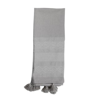 HAND WOVEN ADELINE THROW GRAY