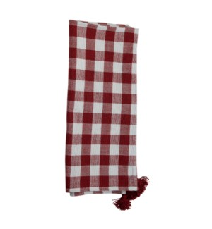 HAND WOVEN BENNET THROW RED