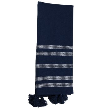 HAND WOVEN DYLAN THROW NAVY