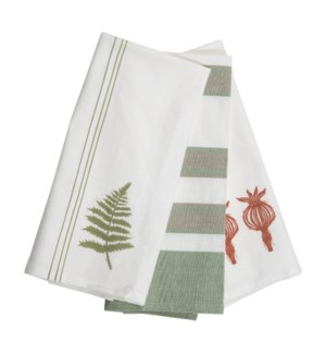 ASHER STRIPE TEA TOWELS, SET OF 3