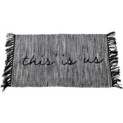 HAND WOVEN THIS IS US RUG