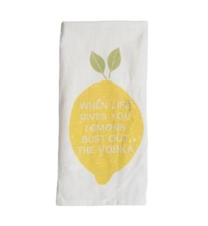 LIFE LEMONS TEA TOWEL