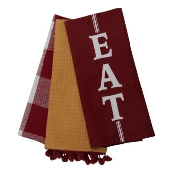 EAT TEA TOWELS, SET OF 3