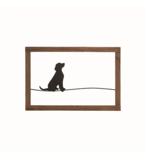 DOG ON A WIRE WALL ART
