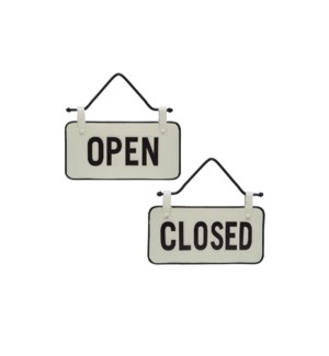 SMALL OPEN CLOSED SIGN