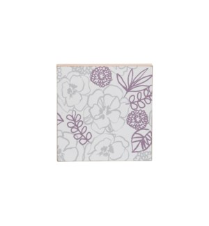 LILAC FLORAL WEDGE WALL ART