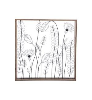 WILDFLOWER SILHOUETTE WALL ART