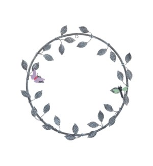 METAL GARDEN WREATH WITH MAGNETS, SET OF 3 PIECES