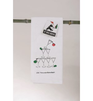 Bar Towel, Holiday, Oh Tannenbombed,  with min 6 pcs per style