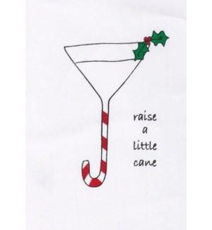 Bar Towel, Holiday, Raise a little cane     min 6 pcs per style
