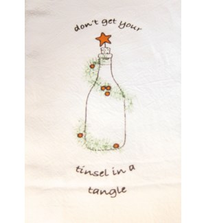 Bar Towel, Holiday, Don't Get your Tinsel in a Tangle     min 6 pcs per style