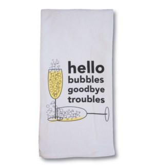 Bar Towel, Hello Bubbles Goodbye Troubles