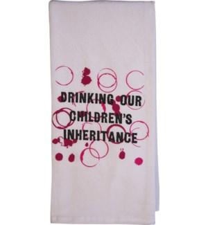 Bar Towel, Drinking Our Children's Inheritance