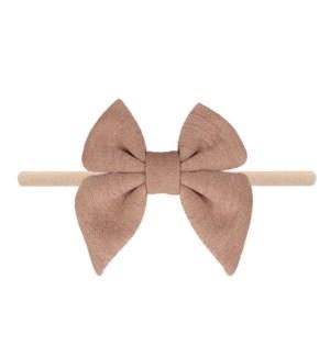 Champagne Cotton Bow Baby Headband