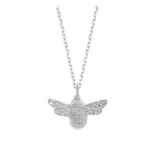 Bee Necklace - Silver Plated