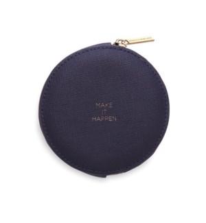 Circle Coin Purse - Navy