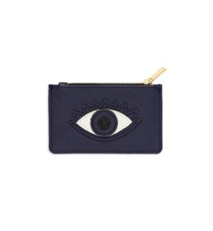 Card Purse - Navy with Navy Applique - Eye
