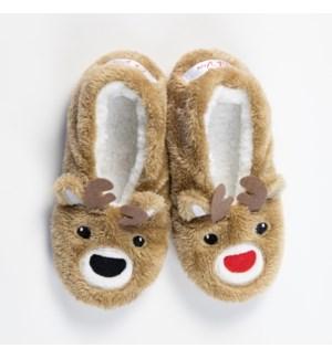 """""""Oh Deer Xmas footsie: Brown: 12 footsie Pre-Pack 2S,5M,4L,1XL"""""""