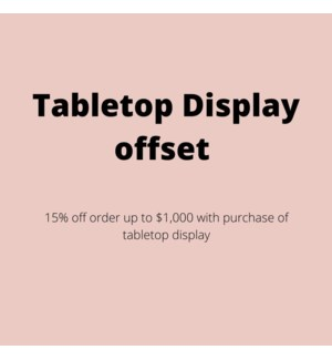 """""""Faceplant Dreams Table Top Display -  15% off entire order up to $1,000 """""""