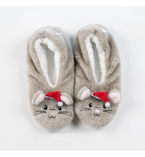 """Night Before Xmas- Mouse footsie: Grey: 12 footsie Pre-Pack 2S,5M,4L,1XL"""