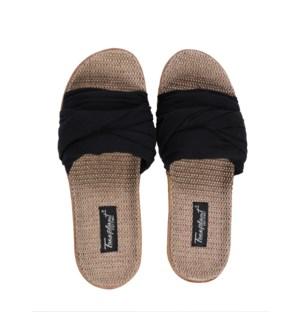 """""""Hemp Bamboo Slide: Black: Pre-Pack women's sizes 6-10 (1, 3, 4, 3, 1)"""""""