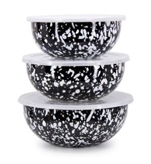 Black Swirl Mixing Bowls