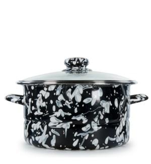 Black Swirl 6 qt Stock Pot