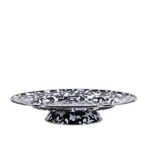 Black Swirl Cake Plate