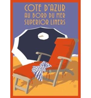 Cote D'Azur Beach chair Luggage Tag