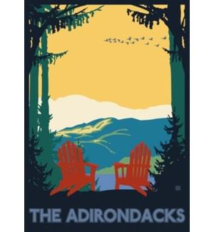 Adirondack Chairs Luggage Tag