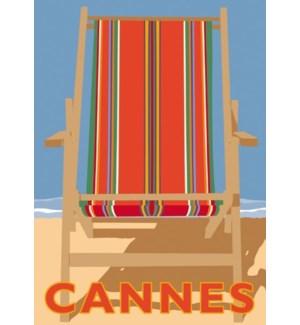 Cannes Stripes Luggage tag