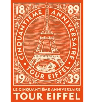 Eiffel Anniversary Luggage Tag