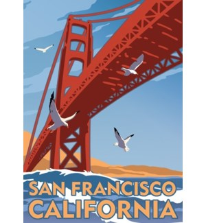 Golden Gate Bridge Luggage Tag