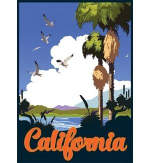 California Scenery Luggage Tag