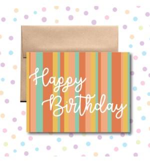 Birthday Stripes Greeting Card