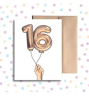 16 Balloon Greeting Card