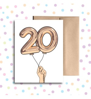 20 Balloon Greeting Card