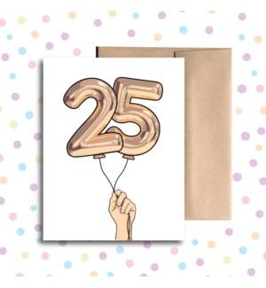 25 Balloon Greeting Card