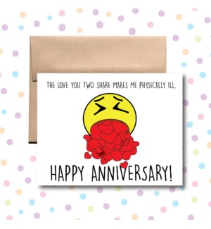 Anniversary Physically Ill Greeting Card
