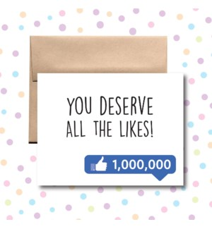 All the Likes Greeting Card