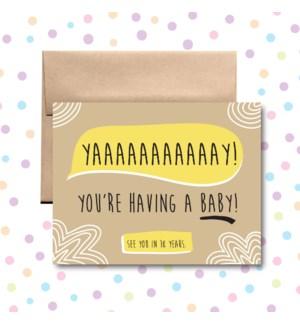 Baby 18 Years Greeting Card
